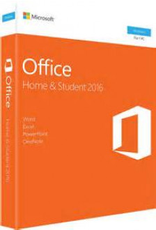 Microsoft Office 2016 Home and Student 1 PC Key Card (79G-04589)