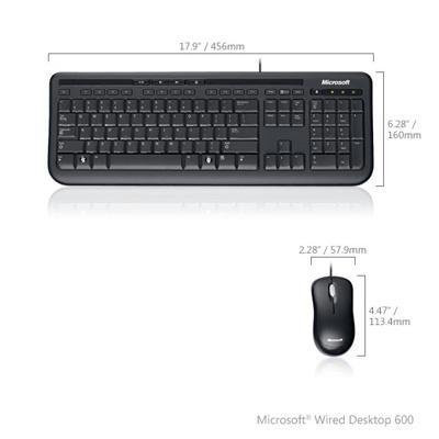 microsoft wired desktop mouse keyboard 600 only at. Black Bedroom Furniture Sets. Home Design Ideas