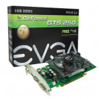 EVGA GeForce GTS 250 DirectX 10 01G-P3-1145-TR 1GB 256-Bit DDR3 PCI Express 2.0 x16 HDCP Ready SLI Support Video Card-01G-P3-1145-TR-by EVGA