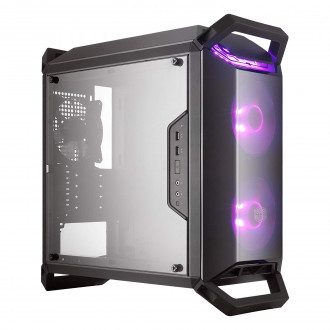 Cooler Master MasterBox Q300P w/ 2 RGB Fans, Handles, Transparent Acrylic Side Panel