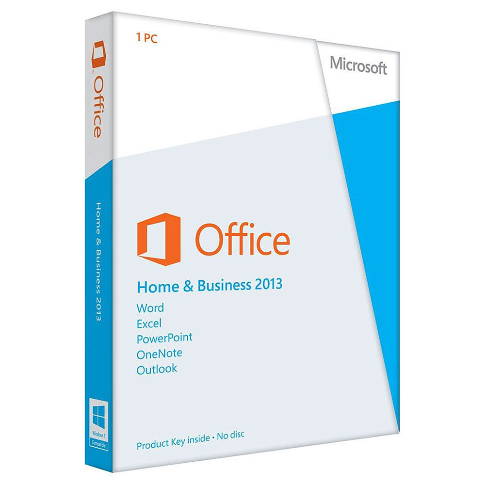 Microsoft Office Home Business 2013 Product Key Card No Media